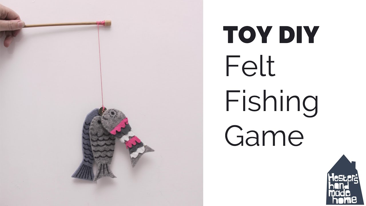 DIY toddler toys, felt fishing game