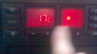 climatronic control diagonostic codes audi a3 8l