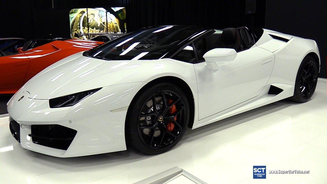 2017 Lamborghini Huracan Spyder Exterior And Interior Walkaround Montreal Auto Show You