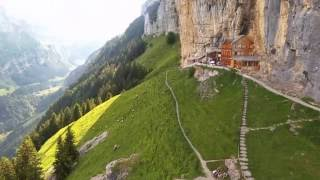 Ebenalp / Appenzeller Alps / Aescher Berggasthaus / Drone: Places to see in Switzerland - 1