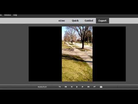 Using portrait 9:16 phone video in a landscape 16:9 Premiere Elements project