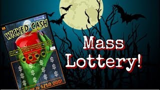 HALLOWEEN TICKETS! YAY! $5 Wicked Cash Mass Lottery Scratch Off Ticket