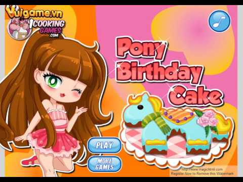 Games 4 girl My Little Pony Birthday Cake Making games barbie and