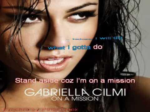 Gabriella Cilmi - On a mission  - Karaoke version