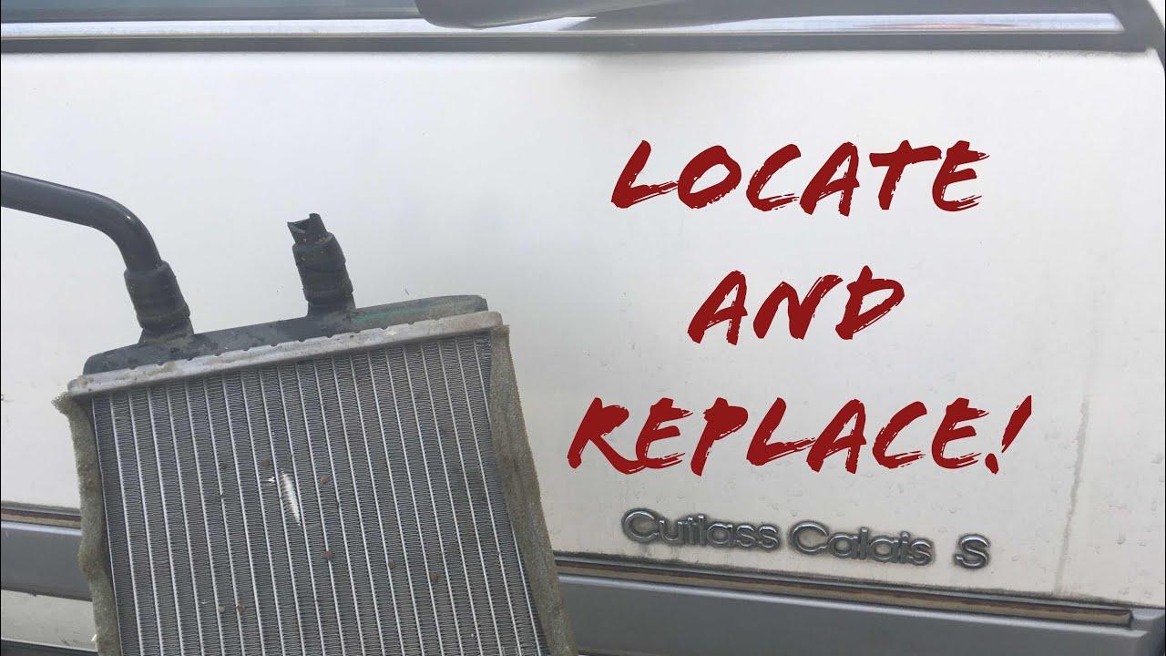 medium resolution of oldsmobile calais heater core location grand am skylark