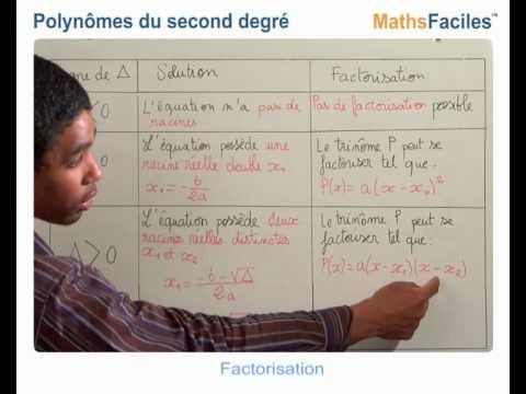 Maths Faciles - Polynômes du second degré - 1ère S - YouTube