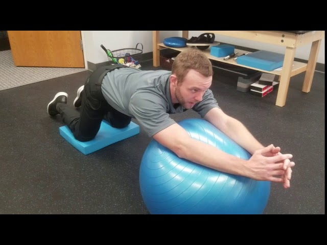 How To Improve the Core | Stability Ball Roll Outs | Chesterfield Chiropractor