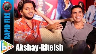 Akshay Kumar | Riteish Deshmukh's BLOCKBUSTER Rapid Fire On Housefull 3 | Salman | Aamir