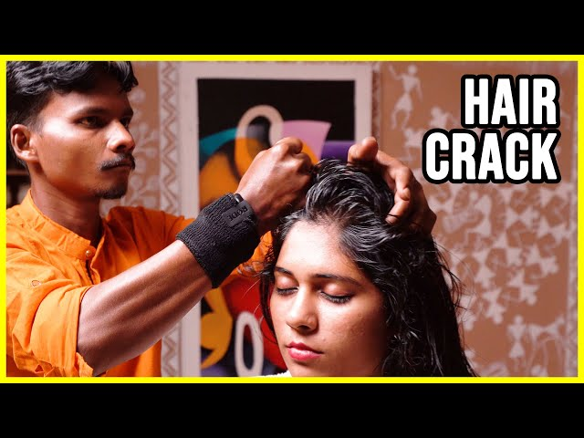*EXTREMELY LOUD* neck and hair CRACK by MASTER CRACKER 🟡 ASMR Barber