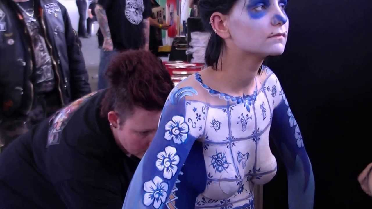 Amsterdam Tattoo Convention 2013 Body Painting By Grimeshop
