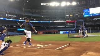 Vlad Guerrero Jr LAUNCHES to practice for Home Run Derby