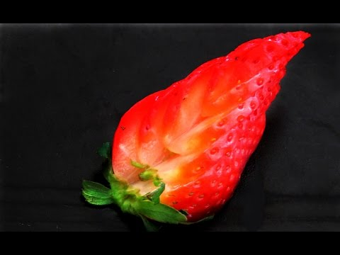 Art In Strawberry Decoration | Fruit Carving Garnish | Strawberry Art | Party Garnishing
