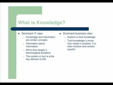 Two reasons why knowledge management fails