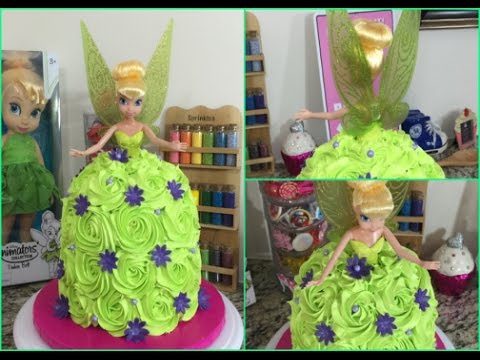 Tinkerbell Buttercream Doll CakeHow To