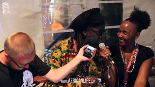 Pressconference Macka B @ Uprising Reggae Festival 2013, 23.08.2013