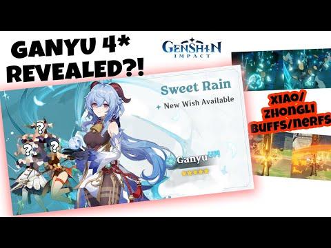 4 Stars on GANYU BANNER?! XIAO - ZHONGLI BUFF NERF?! [Genshin Impact] NEWS