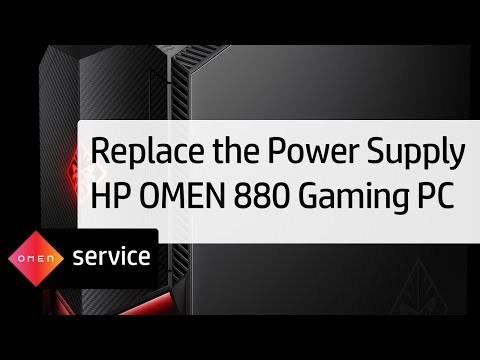 Removing and Replacing the Power Supply | HP OMEN 880 Gaming PC | HP