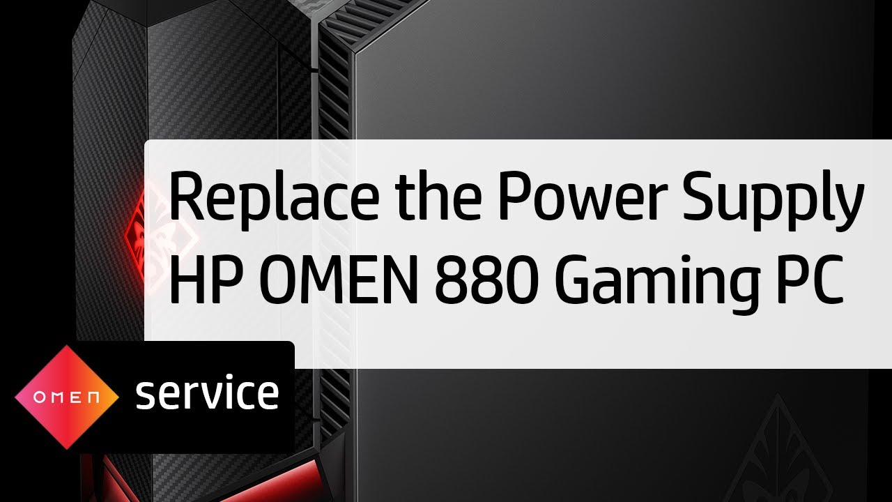 Removing and Replacing the Power Supply on the HP OMEN 880 Gaming PC | HP  OMEN | HP