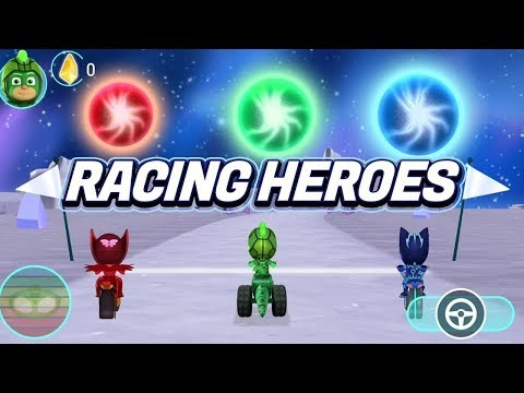 PJ Masks Games | PJ Masks Racing Heroes - New App Game - Owlette Gameplay | Game For Kids