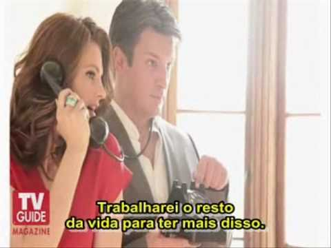 Tv Guide: Behind the Photo Shoot - Stana Katic and Nathan Fillion - Legendado