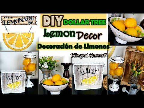 Dollar Tree DIY   Farmhouse Lemons Home Decor   English CC   Decoración de Limones