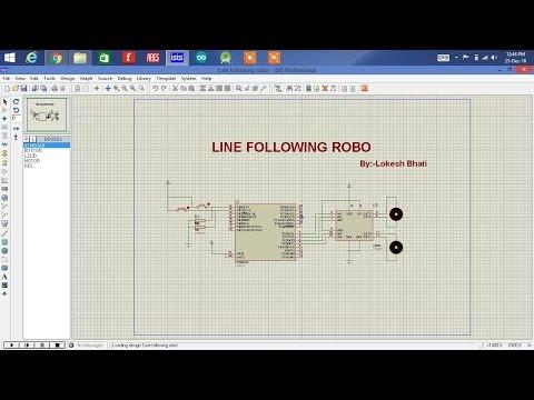 Line follower robo using atmega8 microcontroller - YouTube