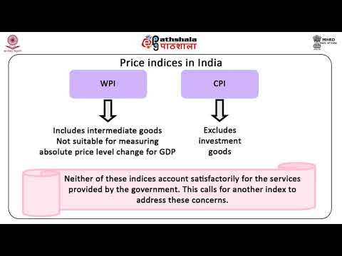 Distinction between real and nominal variables; price index numbers