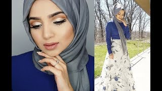 PROM MAKEUP TUTORIAL, HIJAB TUTORIAL AND OUTFIT