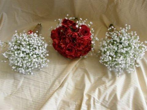 Gypsophila Babies Breath Wedding Flowers With Hessian