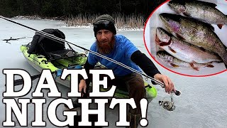 Need MEAT for Weird DATE NIGHT (at the CABIN)!!!   ICE-FISH the POND and Terrible Squirrel Hunt