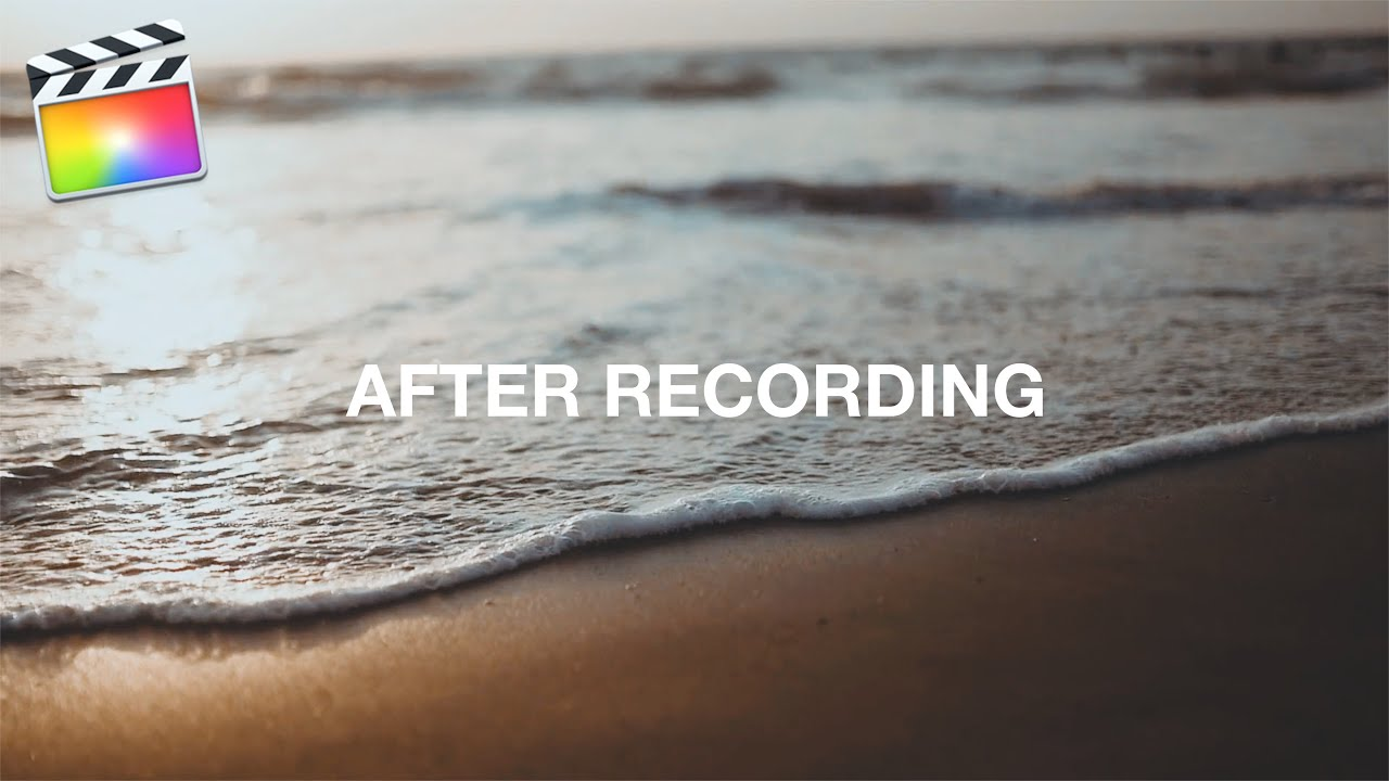 Final Cut Pro X - アフレコ「ナレーション」を録音する方法