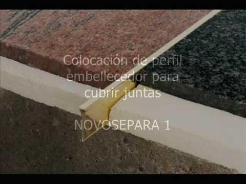 colocacin de perfil para cubrir juntas y separar pavimentos