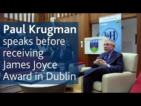 Prof Paul Krugman delivers speech to UCD Literary & Historical Society