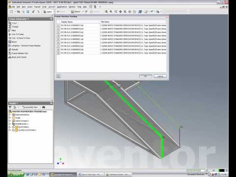 using the \'Frame Generator\' to create bent tubing rather than ...