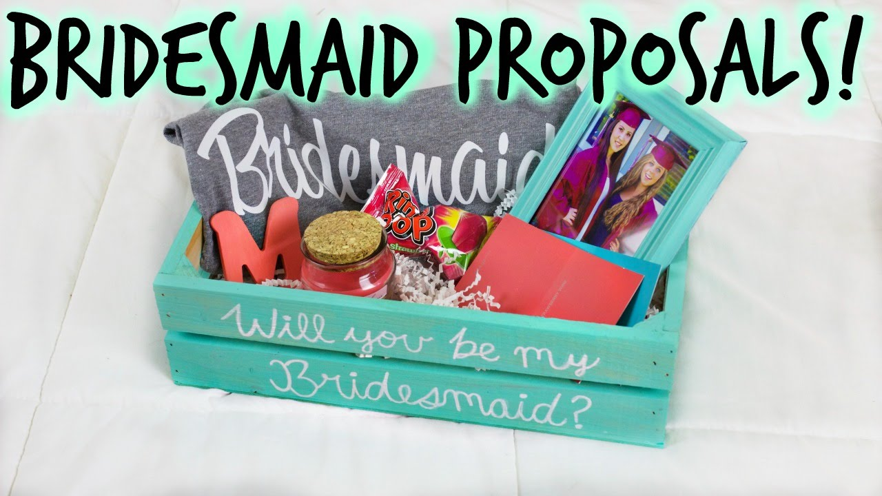 DIY BRIDESMAID PROPOSAL BOX u0026 GIFTS! How I Asked My Bridal Party! || Wedding Series ?? - YouTube  sc 1 st  YouTube & DIY BRIDESMAID PROPOSAL BOX u0026 GIFTS! How I Asked My Bridal Party ...