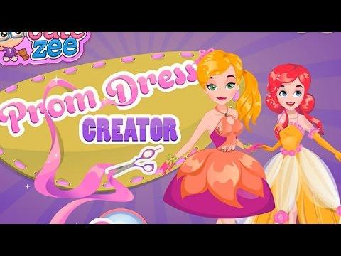 NEW Игры для детей—Disney Принцесса Создание платья—Мультик для девочек