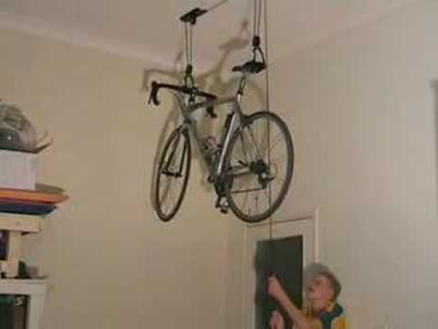 & Bike Storage Ceiling Lift - YouTube