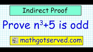 indirect proof 3 Prove that if n^3+5 is odd then n is even contradiction contraposition