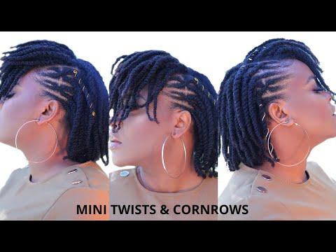 #minitwists-mini-twists-&-criss-cross-cornrows-on-meduim-type-4-natural-hair|-quarantine-hairstyle