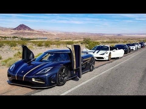 RACING a Koenigsegg in a Lamborghini - FREE FOR ALL SPEED RUN