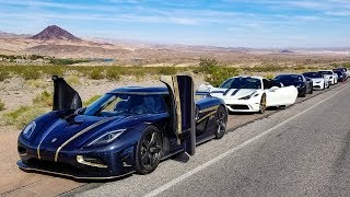 RACING a Koenigsegg in a Lamborghini - FREE FOR ALL SPEED RUN