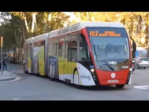 Van Hool bi-articulated ExquiCity hybrid bus, in Barcelona