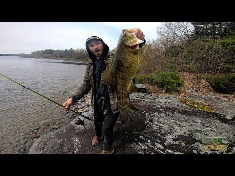 Russells First Chu Smallie Of The Season - Wachusett Reservoir