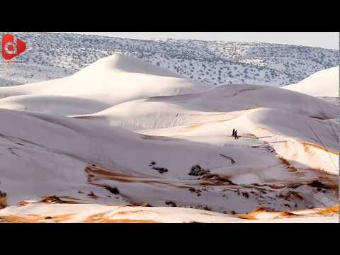 Snow In Desert ALGERIA - َMiracle