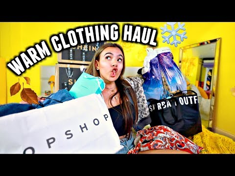CLOTHING HAUL THAT WILL ACTUALLY KEEP YOU WARM AND COZY! Fall/Winter 2018 Haul!