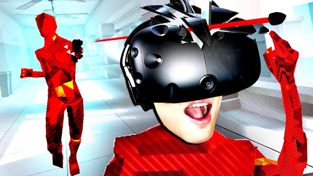 【屌德斯解說】 VR燥熱Super Hot 我是一個活在子彈時間里的超能力者! - YouTube
