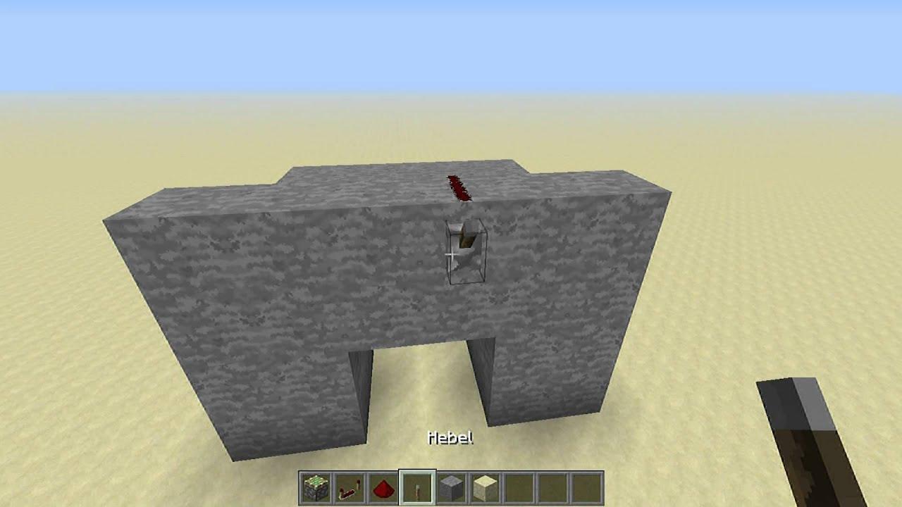 minecraft versteckte t r bauen einfach youtube. Black Bedroom Furniture Sets. Home Design Ideas