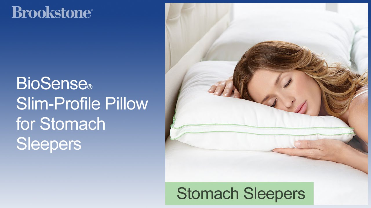 biosense slimprofile pillow for stomach sleepers