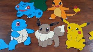 Pokemon paper crafts eevee DIY