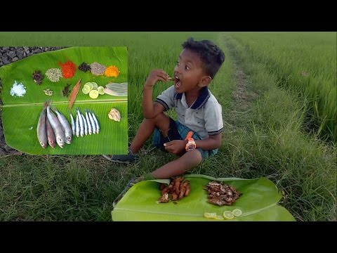 1000 Small Fish Fry / Cook Taste and Share / Village Food Factory